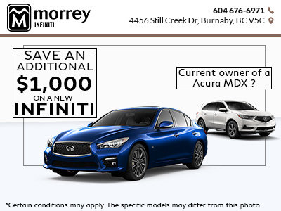 Save an Additional $1,000 on a New Infiniti!