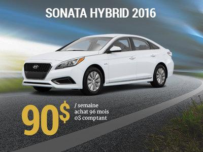 Roulez en Hyundai Sonata Hybrid 2016 pour 90$ / semaine chez Hyundai Trois-Rivières à Trois-Rivières