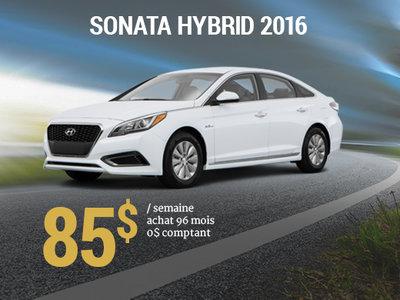Roulez en Hyundai Sonata Hybrid 2016 pour 85$ / semaine  chez Hyundai Shawinigan à Shawinigan