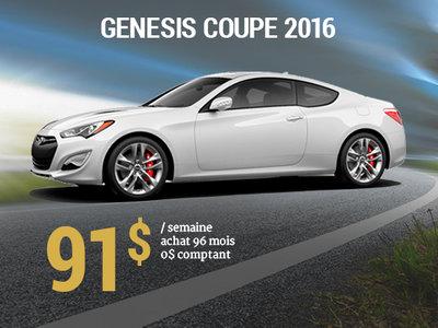 91$ par semaine pour une Hyundai Genesis Coupe 2016 chez Hyundai Shawinigan à Shawinigan