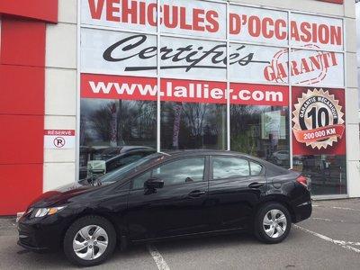 Honda Civic LX ** BAS KILOMÉTRAGE CERTIFIÉ 2014