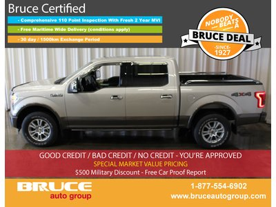 2017 Ford F-150 LARIAT 5.0L 8 CYL AUTOMATIC 4X4 SUPERCREW   Bruce Chevrolet Buick GMC Middleton