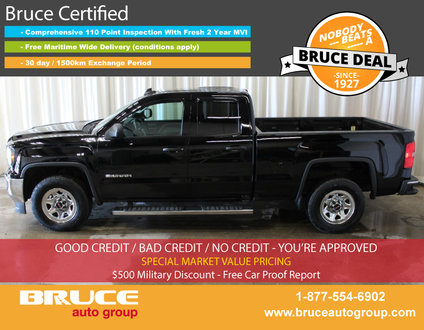 2016 GMC Sierra 1500 WT 5.3L 8 CYL AUTOMATIC 4X4 EXTENDED CAB