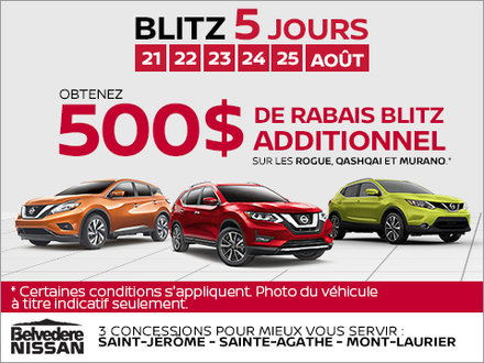 La Vente de 5 Jours Nissan!
