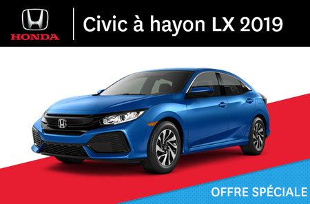 Honda Civic à Hayon LX manuel 2019