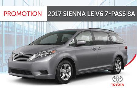 Toyota 2017 Sienna V6 7-PASS 8A
