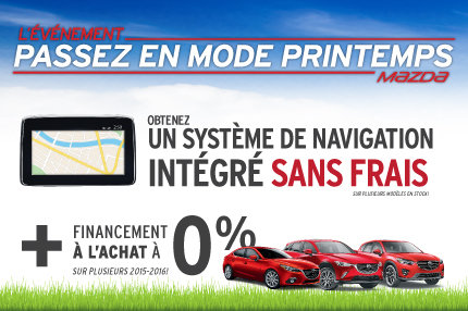 L'événement passez en mode printemps avec Mazda