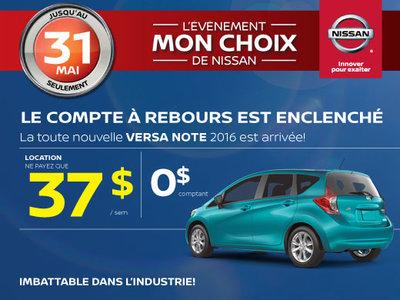 L'événement Mon choix de Nissan - Versa Note 2016
