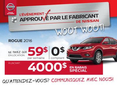 L'événement approuvé par le fabricant  de Nissan - Rogue 2016