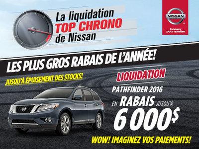 La liquidation top chrono de Nissan - Pathfinder 2016