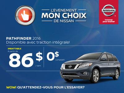 L'événement Mon choix de Nissan - Pathfinder 2016