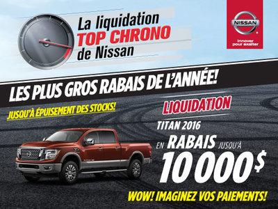 La liquidation top chrono de Nissan -  Titan 2016