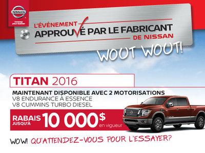 L'événement approuvé par le fabricant  de Nissan -  Titan 2016