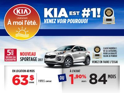 À moi l'été: Le Kia Sportage 2017