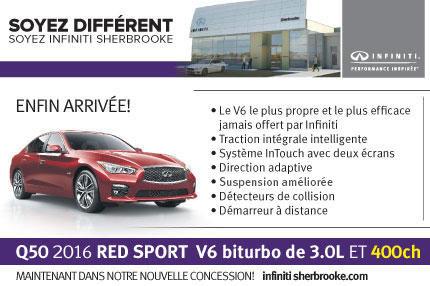 La nouvelle Q50 Red Sport2016 est arrivée