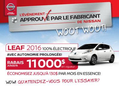 L'événement approuvé par le fabricant de Nissan - Leaf 2016