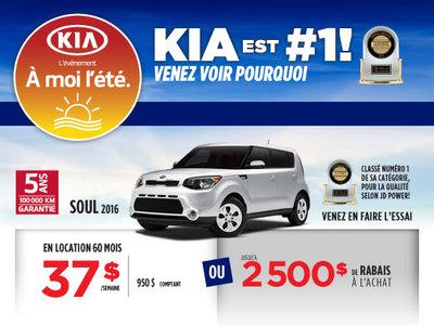 À moi l'été: La Kia Soul SX 2016