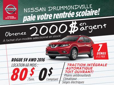 La liquidation top chrono de Nissan - Rogue 2016 chez Drummondville