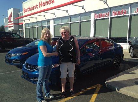 Very good service with Jessica Pitre. Very friendly staff! Congratulations Honda!