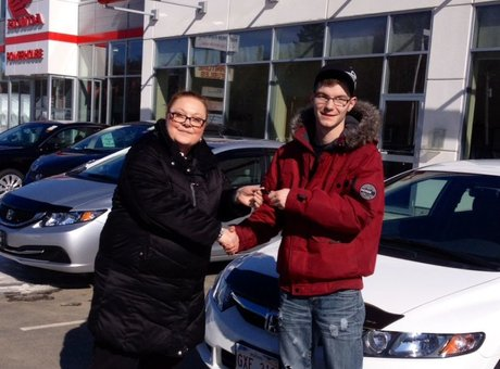 First vehicle bought at Bathurst Honda and very satisfied of the service! Shawn Godbout