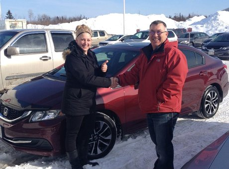 Great experience! Jessica was a great sales lady! Bought cars from Bathurst Honda before and again!!! Great experience!