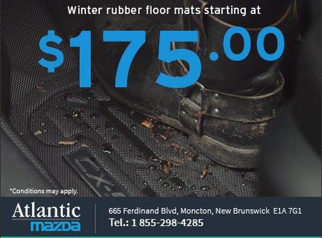 Winter Rubber Floor Mats from $175!