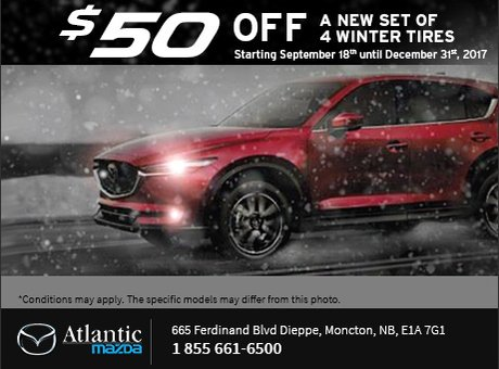 Get $50 Off a New Set of Winter Tires