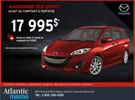 La Mazda5 2017 en rabais!