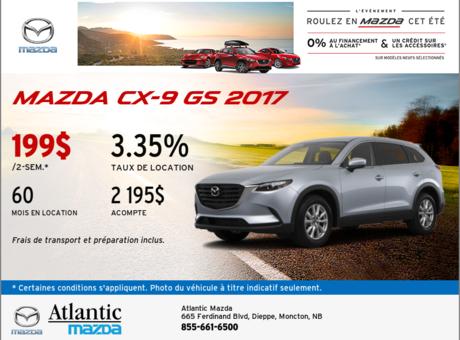 La Mazda CX-9 GS 2017 en rabais