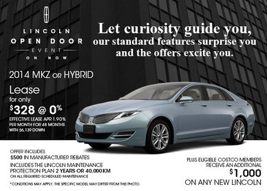 Get a 2014 Lincoln MKZ for only $328 per month!