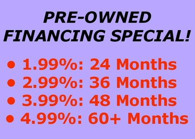 Pre-Owned Financing Special!