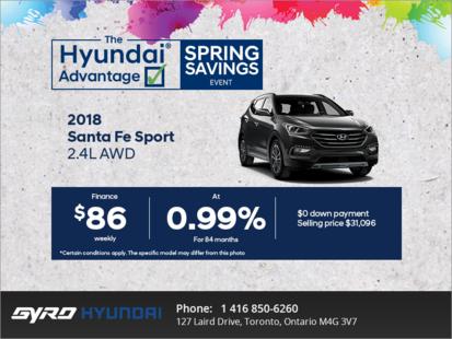 Get the new 2018 Santa Fe Sport!