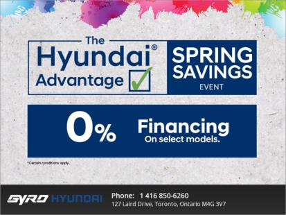 Hyundai Advantage Springs Savings Event
