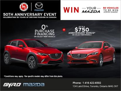 Mazda's 50th anniversary event!