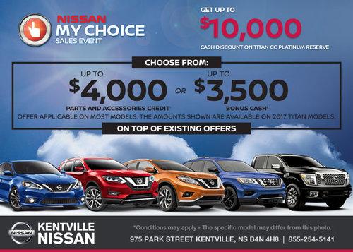 Nissan My Choice Sales Event