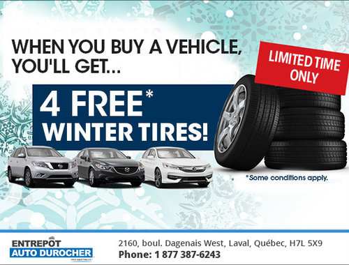 Entrepot Auto Durocher >> 4 Free Winter Tires Entrepot Auto Durocher Promotion In Laval