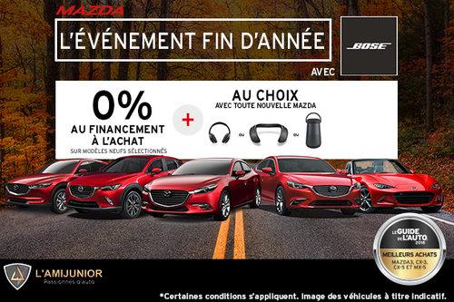 L'événement mensuel de vente de Mazda!