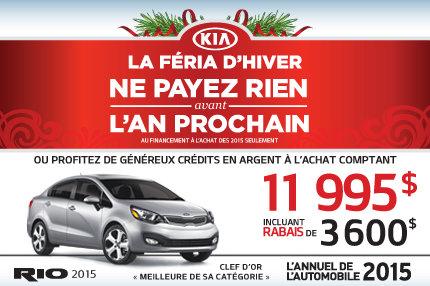 Le nouvelle Kia Rio 2015 à seulement 11 995$