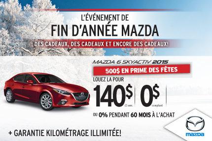 Louez la Mazda6 2015 à seulement 140$ aux 2 semaines