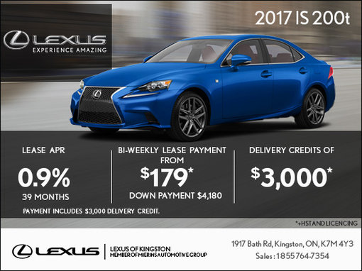 Lease the 2017 Lexus IS 200t Today!