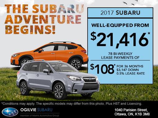 The Subaru Adventure Begins!