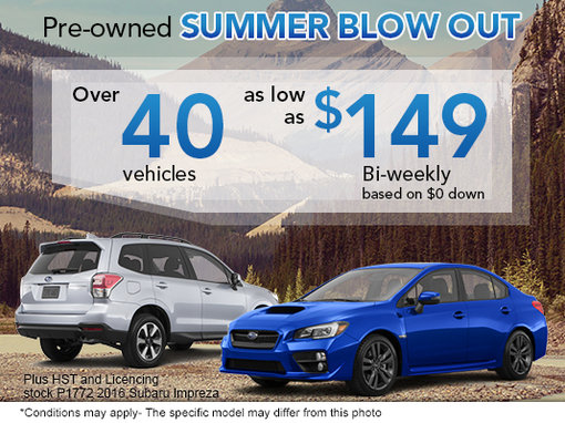 Pre-Owned Summer Blow-Out!