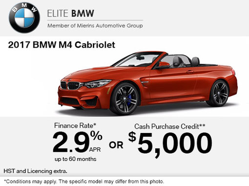 Save on the 2017 BMW M4 Cabriolet Today