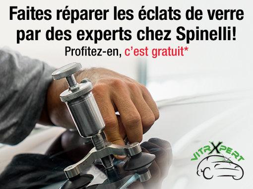 Faites réparer les éclats de verre par des experts