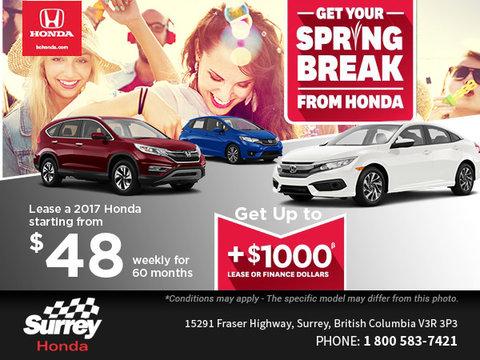 Get Your Spring Break from Honda
