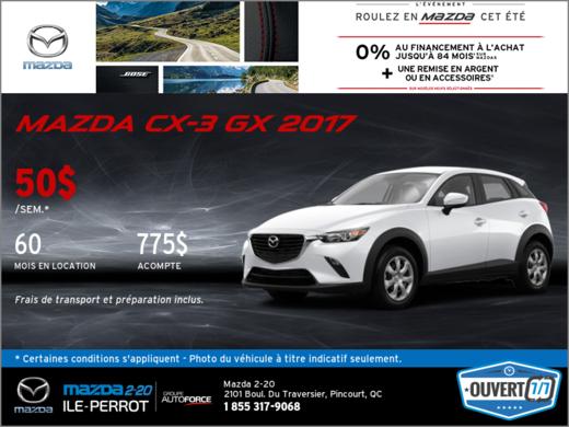Obtenez la Mazda CX-3 2017!
