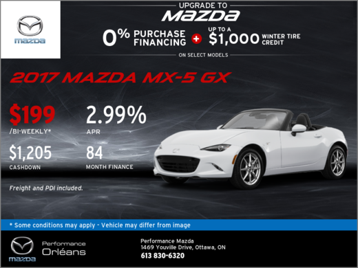 Save on the New 2017 Mazda MX-5 GX Today!