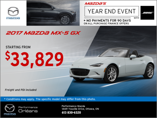 The 2017 Mazda MX-5 GX!