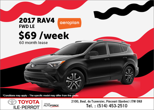 Lease the All-New 2017 Toyota RAV4 Today!