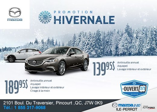 Promotion hivernale chez Mazda 2-20